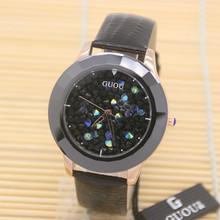 2016 GUOU Quality Luxury Brand Diamond Women Dress Watches Crystal Casual Bracelet Wristwatches Clock Women Rhinestone Watches