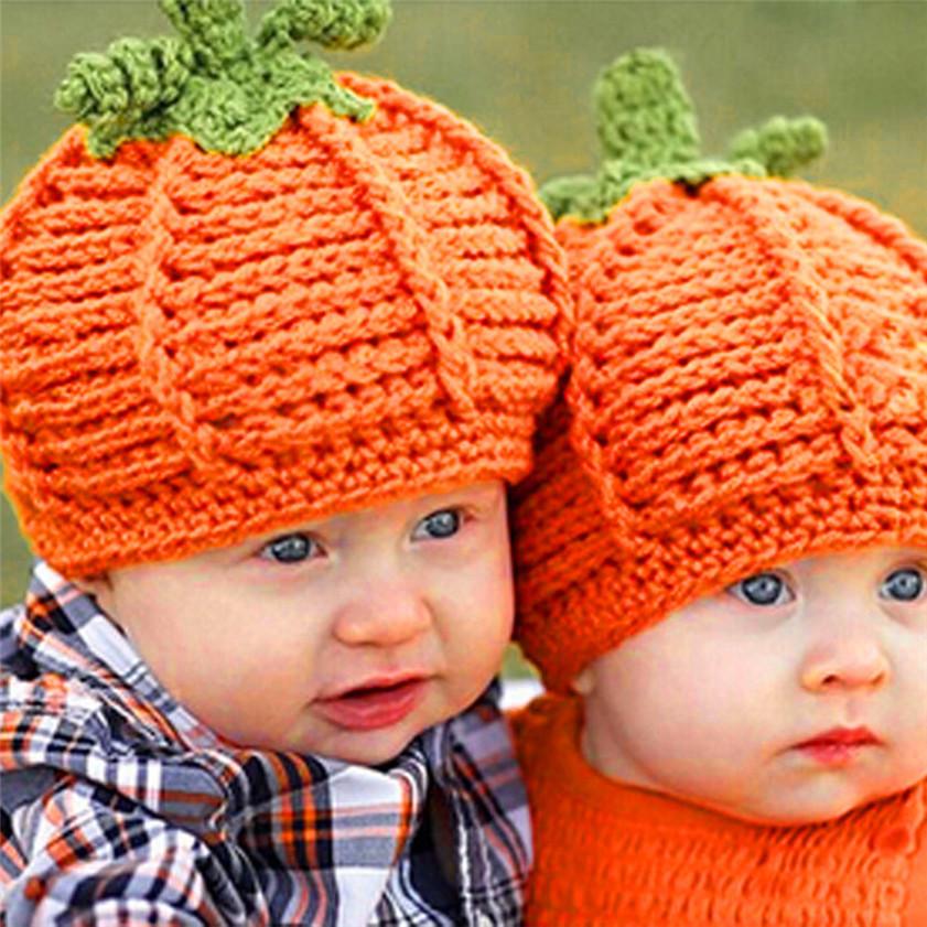 Zero Newborn Baby Pumpkin Cap Knit Hat Costume Photography Prop(China (Mainland))