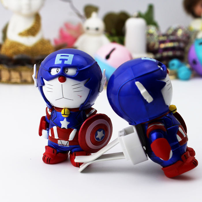 2016 NEW Captain America Car perfume Air outlet of automobile air conditioner Iron Man Cartoon shield Cat cat Car perfume(China (Mainland))