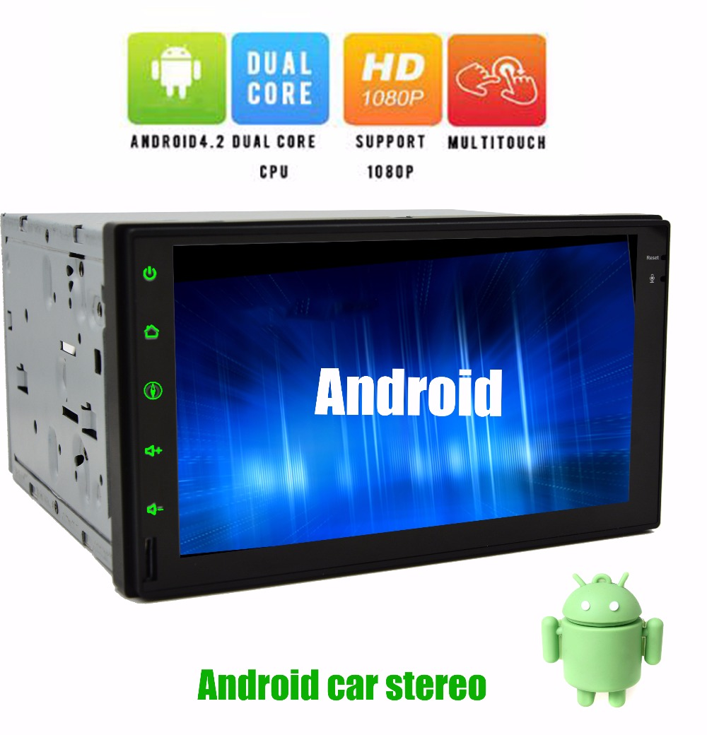 Free rear Camera+7'' Capactive Touchscreen Android 4.2 GPS Car PC NO-DVD MP3 Player 2din In dash Bluetooth Car Stereo Radio+iPod(China (Mainland))
