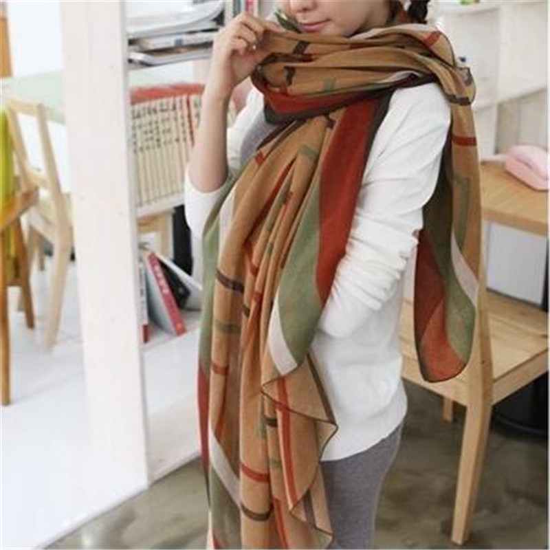 2015 New Fashion Trendy Women s Long Print Scarf Wrap Ladies Shawl Girl Large Pretty Scarf