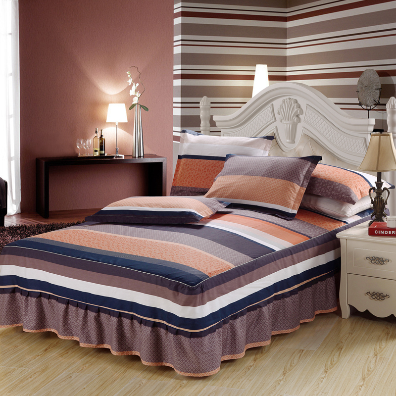 high quality 100 cotton bed sheets printed bed skirts