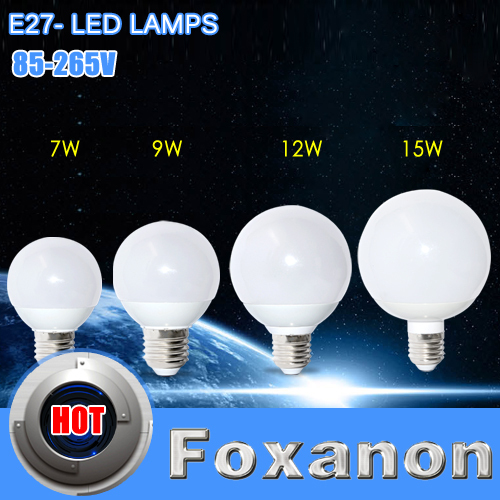 Foxanon E27 Led Bulb Light 85-265V 5730 SMD 360 Lamp Bubble Ball 7W 9W 12W 15W Chandelier IKEA Same Paragraph LEDARE Lighting(China (Mainland))
