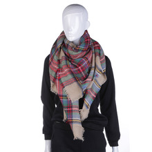 Classic Women Blanket Scarves Oversized Tartan Shawl Wrap Plaid Multicolor Checked Pashmina Valentine's Day Gift Hot!