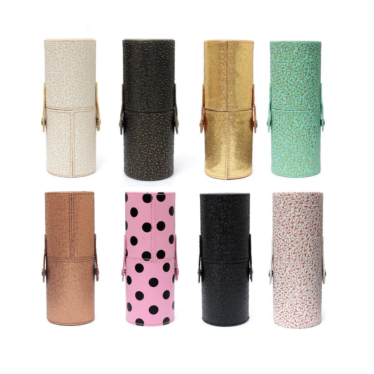 2015 Hotting 1pcs Pro Makeup Brushes Kits Leather Cup Holder Comestic Brushes Organizer Empty Case 8 Style To Choose(China (Mainland))