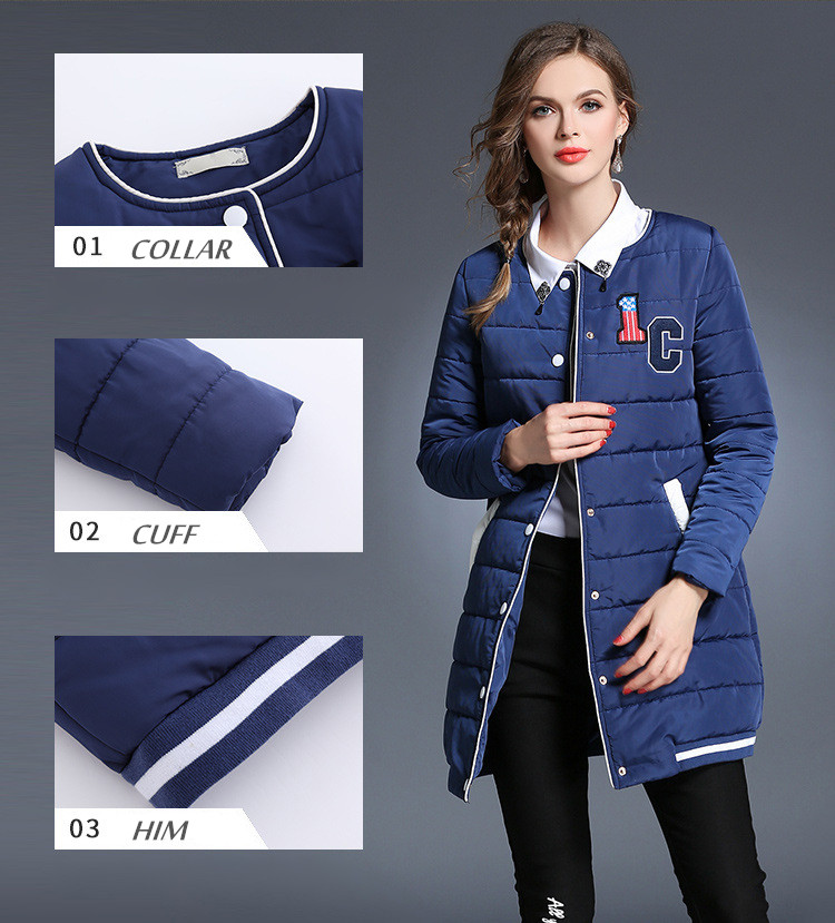 2016 Women Winter Jackets Pockets Zippers Slim Hooded Down Cotton Jacket Women Winter Coat Top Warm Parkas L-5XL 8 High Quality