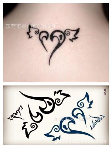 35451740593 beautiful swing heart pattern waterproof tattoo stickers sexy erasable face back neck skin makeup HC-078(China (Mainland))