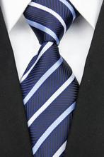 SNT0138 2014 New Fashion Striped Blue Neck Tie Set Neckties Cufflinks Handkerchiefs Business Wedding Tie