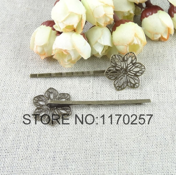 50PCS / LOT A2628 Wholesale antique bronze 64.1 mm Vintage hair clips Alloy hair pins HOT SALE(China (Mainland))