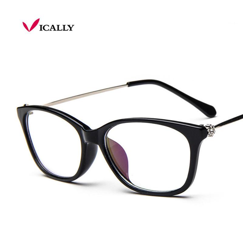Vintage Fashion Diamond Sexy Cat Eye Retro Eyeglasses Glasses Frame Women Clear Lens Eyewear Glasse Frame oculos de grau(China (Mainland))