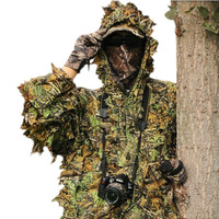 NEW Camouflage Clothing Leaf-like Jungle Camouflage Bionic Suit Camo 3D Leaf Yowie Ghillie Suit  for Hunting and Birding