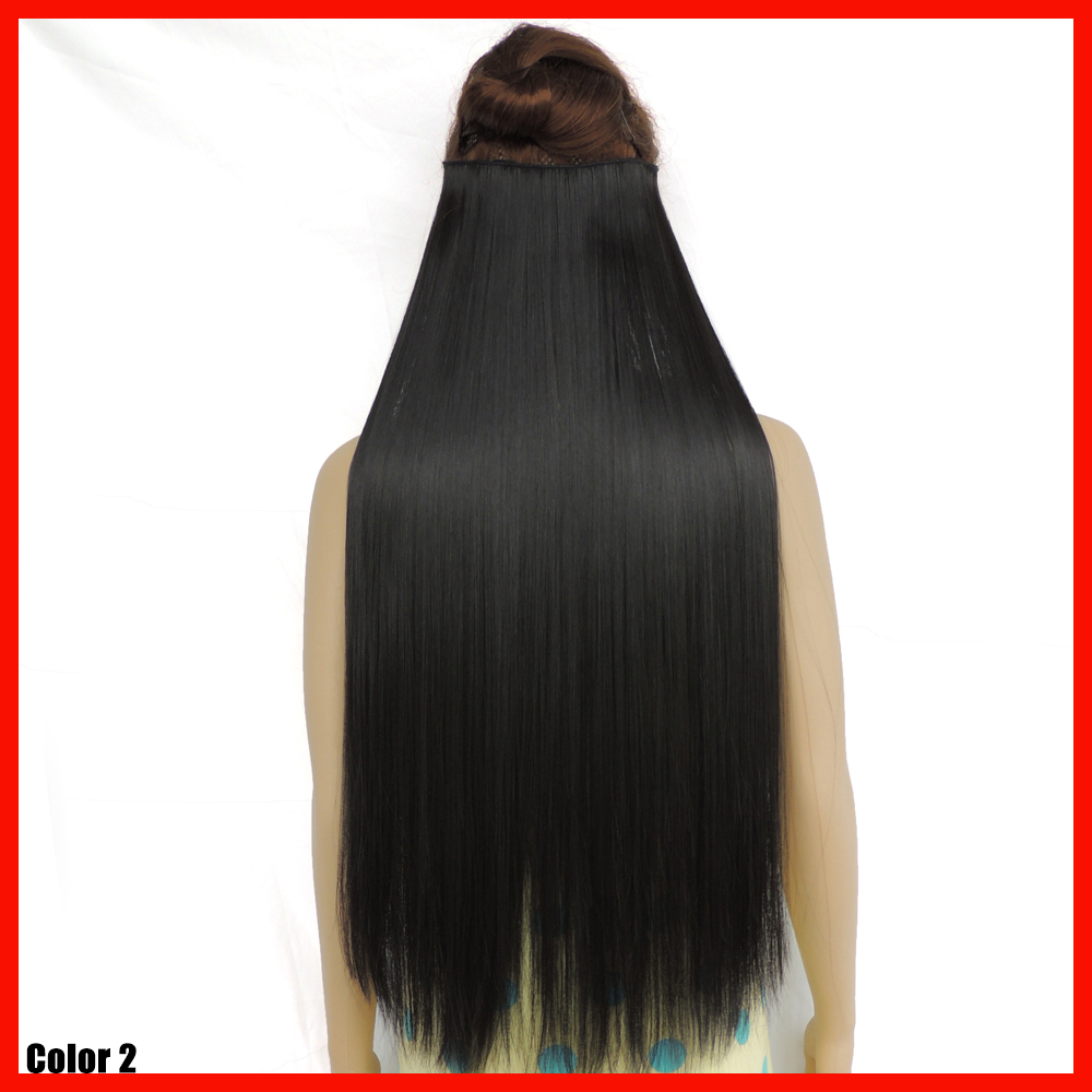 Гаджет  28inch straight mega hair cabelo natural black hairpiece synthetic hair extensions 5 clip in haar extension long hair piece None Волосы и аксессуары