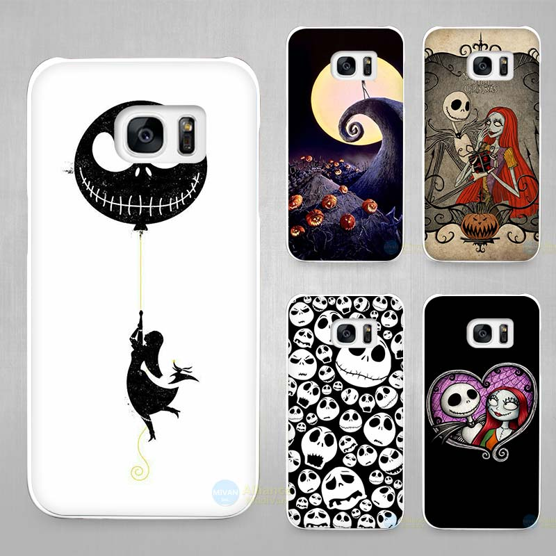 Jack Skellington The Nightmare Before Christmas Hard White Coque Shell Case Cover Phone Cases for Samsung Galaxy S4 S5 S6 S7 Edg(China (Mainland))