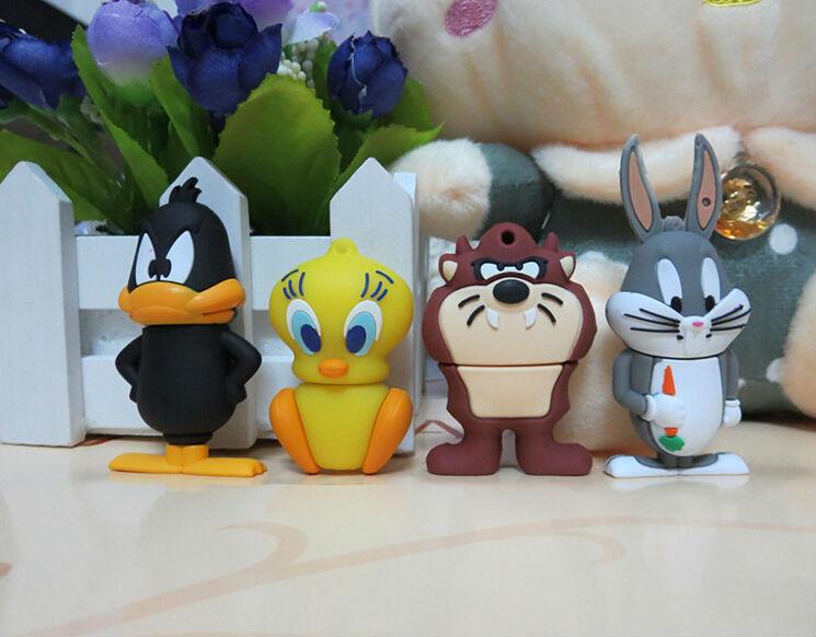 animal cartoon Bear/Daffy Duck/Bugs Bunny/Tweety Bird USB 2.0 Flash Drive/U Disk/Creativo Pendrive/Memory Stick/Gift 4G 8GB 32GB(China (Mainland))