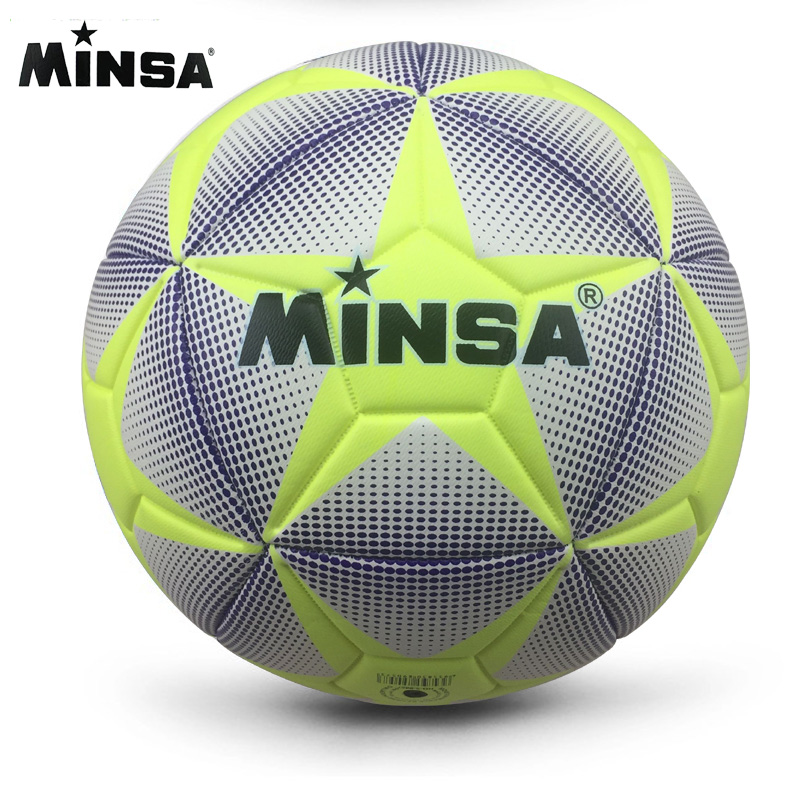 2017 New Brand MINSA High Quality A++ Standard Soccer Ball PU Soccer Ball Training Balls Football Official Size 5 and Size 4 bal(China (Mainland))