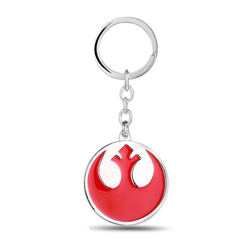 J&R Promotion Movie Jewelry Star Wars Keychains The Rebel Alliance Coat of Arms Zinc Alloy Red Key Chain Ring Holder For Fans(China (Mainland))