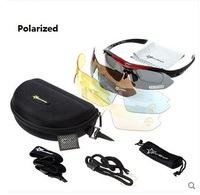 Hot! RockBros Polarized Cycling Sun Glasses Outdoor Sports Bicycle Glasses Bike Sunglasses TR90 Goggles Eyewear 5 Lens,4 Colors