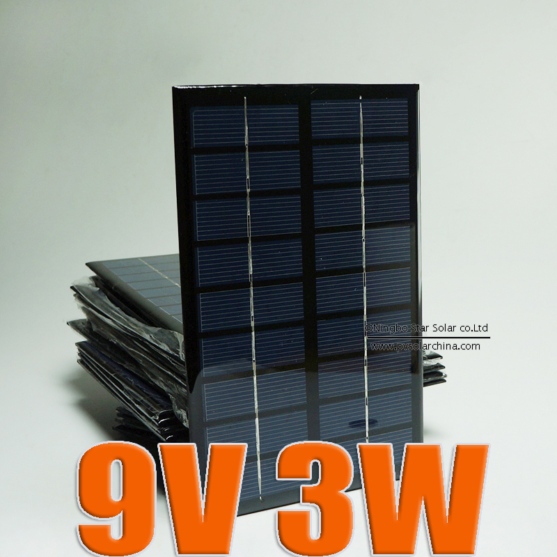 9V 3W 330mA Mini monocrystalline polycrystalline solar battery Panel charge for small solar power kit DIY education study(China (Mainland))