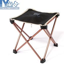 Lightweight Outdoor Aluminum Square Portable Foldable Folding Fishing Chair Tool Camping Stool for picnic BBQ beach chair(China (Mainland))