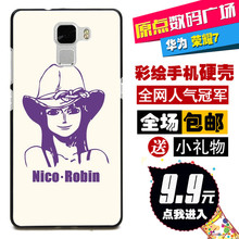 New Hard Back Protective Cover Case For Huawei Glory/Honor 7 Fashion Cartoon Phone Case Evangelion 67