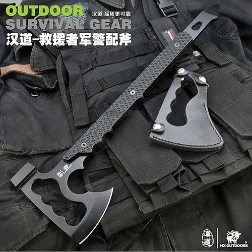 Free shipping HX Tomahawk Army Indian 57HRC 420 Steel Outdoor Hunting Camping Axe Fire Axe Axes Tool Mountain-cutting Hatchet(China (Mainland))