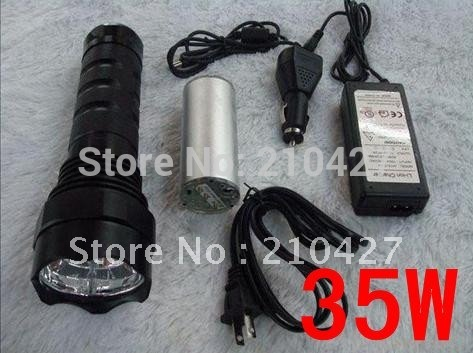 35W HID FLASHLIGHT XENON HID TORCH 3500 LUMENS SPOTLIGHT Hunting Camping Light(China (Mainland))