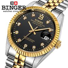 Switzerland Wristwatches BINGER 18K gold watches men self-wind automatic winding mechanical Wristwatches BG-0373(China (Mainland))