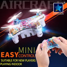Cheerson UAV CX-10D 2.4GHz 4CH 6-Axis Gyro drone with LED light Hight Hold RC Quadcopter 3D flips/rolls mini aircraft toys