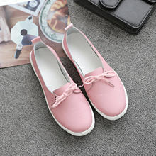 Dongnanfeng feminino estudantes gril feminino couro genuíno sapatos brancos plataforma rendas até coreano casual sapatos vulcanizados fez-173(China)