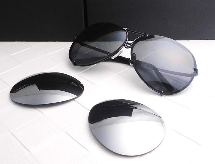 Replaceable Lens P8478 Aviator/Pilot Polarized Sunglasses prosche High UV Protection - CC Liu store