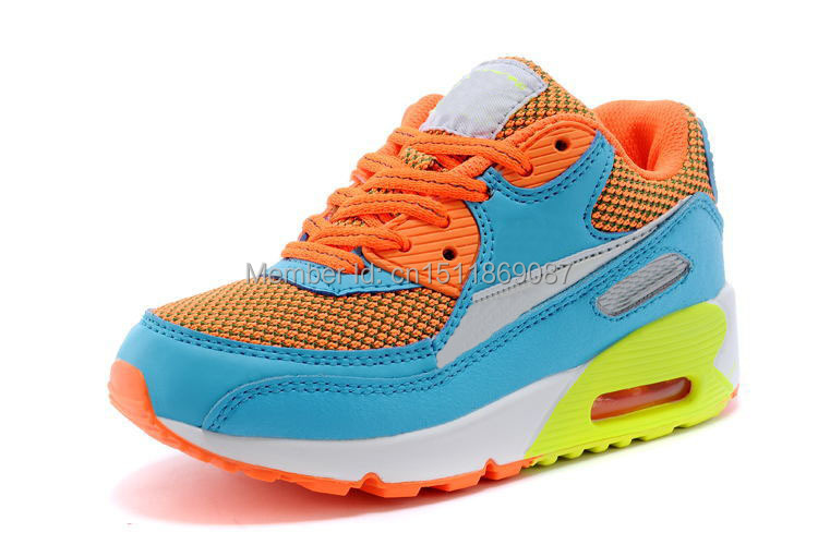 New arrival top quality 2014 Children's brand running Shoes Kids Athletic 90 sports Shoes size28-35(China (Mainland))