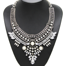 2015 New Fashion Design Bridal Jewelry Vintage Neck Bib Collar Chokers Statement Necklaces & Pendants  women Evening Dress NK974