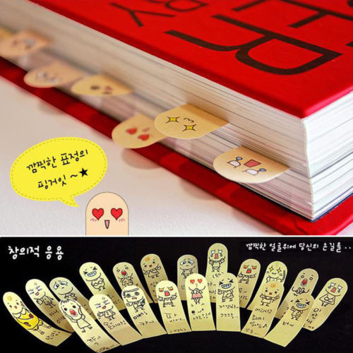 200 Pages Kawaii Unique Scrapbooking Ten Fingers Sticker Bookmark Tab Flags Memo Book Marker Sticky Notes(China (Mainland))