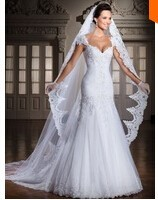 Custom Made 2014 New A line Backless Lace Pearls Sexy Long Mariage  vestidos de noivas Wedding Dress  Free Shipping SP58