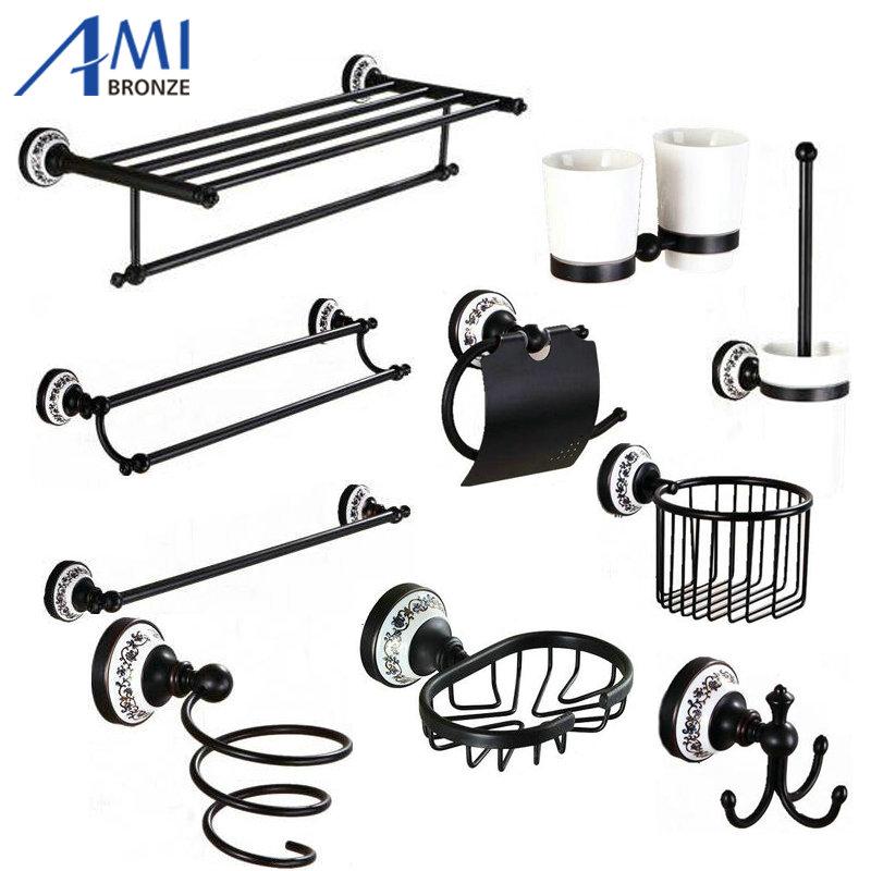 Noir salle de bains accessoires achetez des lots petit for Accessoire salle de bain noir