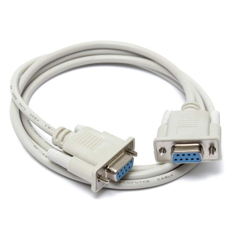 New 1.5M Serial RS232 9 Pin Female To Female DB9 9-Pin PC Converter Extension Cable(China (Mainland))