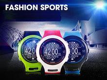 Gps часы спортивные smartwatch 3ATM сердечного ритма управлением мужчины многофункциональные электронные ультра-тонких водонепроницаемый бесплатная доставка