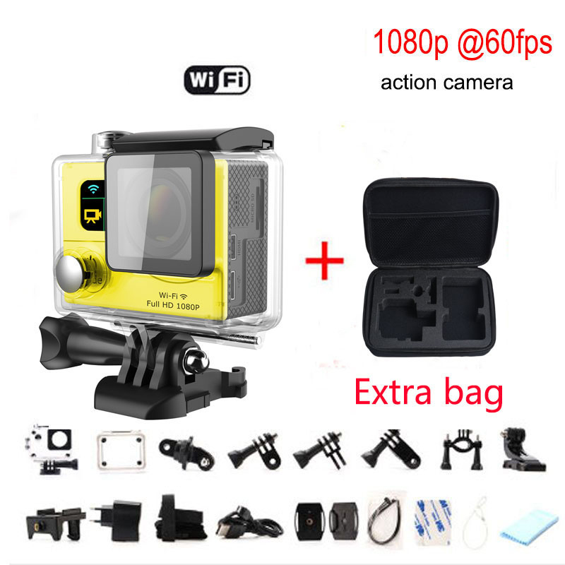 """Hot Sale Extra package G3 WIFI Action Camera Ultra HD Video Sports Camera 170 degree Wide Angle 2"""" Dual Screen 30M waterproof(China (Mainland))"""