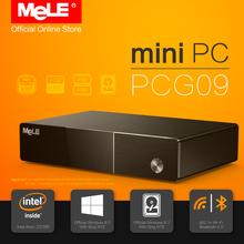 Fanless Intel Mini PC Mele PCG09 Genuine Windows 8.1 Quad Core Z3735F 2G DDR3 32G eMMC 2,5 SATA HDD M.2 SSD HDMI VGA LAN WIFI BT(China (Mainland))