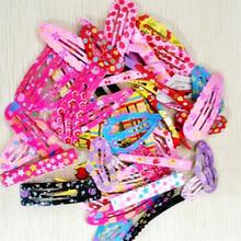 HOT SALE Hair Clips Heart Star Shaped 50 Pcs/lot Hair Accessories 3.5-5cm Print Mix Color Random Style Iron Hairpins