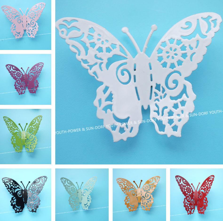 vlinder muurstickers kunst thuis kinderkamer babykamer slaapkamer ...