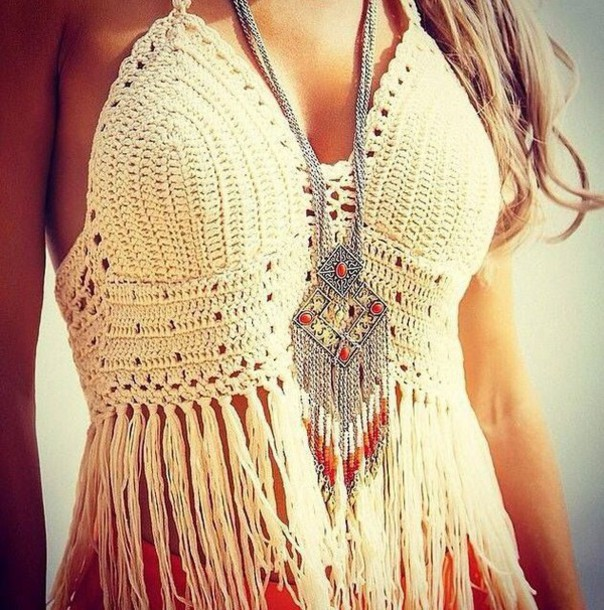 Casual Women Lady Knit Crochet Tassel Sexy Beach Bustier Crop top Hollow out Tank Top Women Clothes New Fashion(China (Mainland))