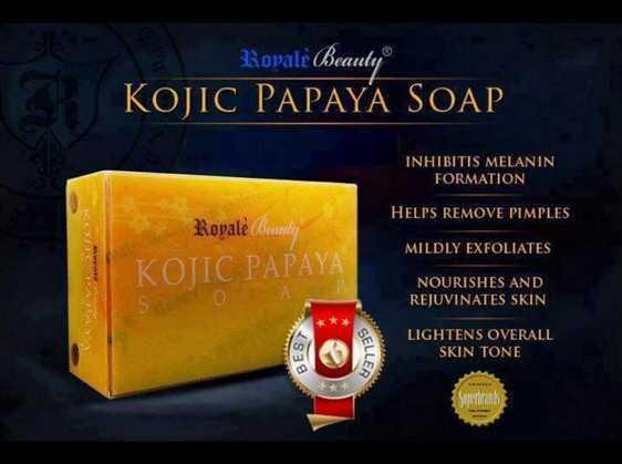 Authentic Kojic Papaya Soap Original Papaya Skin Whitening Lightening Herbal Soap Free shipping(China (Mainland))