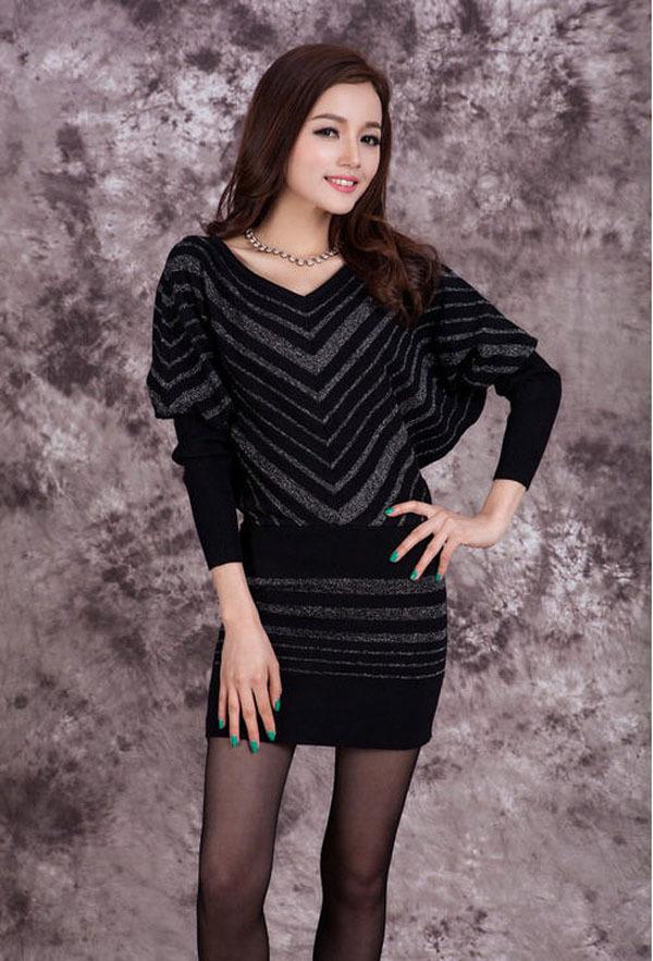Long sleeve shirt under a dress