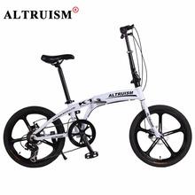 Buy Altruism K1 Folding Bike Aluminium Kid's Bicycle 7 Speed 20 Inch Bicicleta Mountain bike Double Disc Brake Downhill Bike for $279.98 in AliExpress store