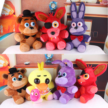 "Five Nights At Freddy's 4 FNAF Freddy Fazbear Bear Doll Plush Toys 10""(China (Mainland))"