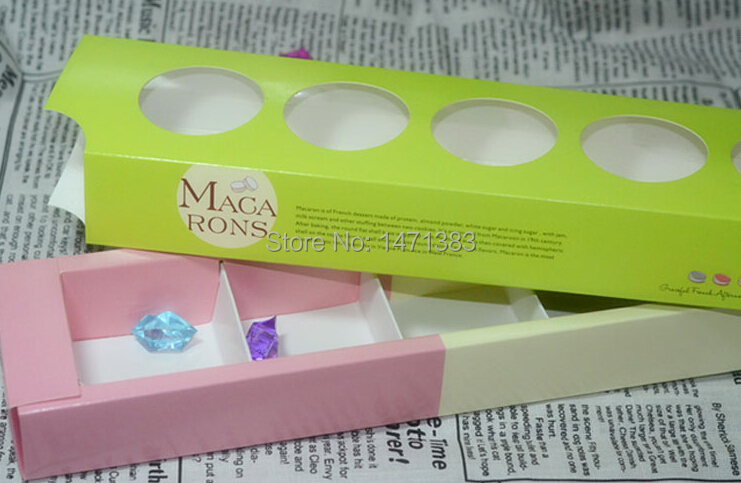 Size 30.5*7.5*3.6 cm Wholesale macaron gift packing,Valentine Chocolates Packing Box(China (Mainland))
