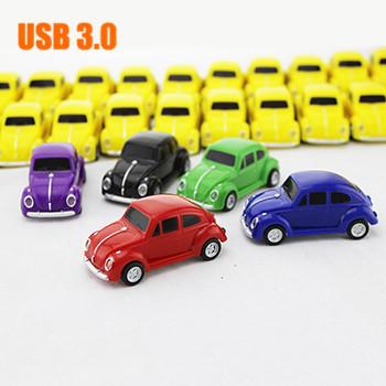 Retail USB 3.0 Fashion Beetle Car Shape USB Flash Drive Pen Drive Memory Stick Disk Pendrive 8GB 16GB 32GB 64GB Free shipping(China (Mainland))