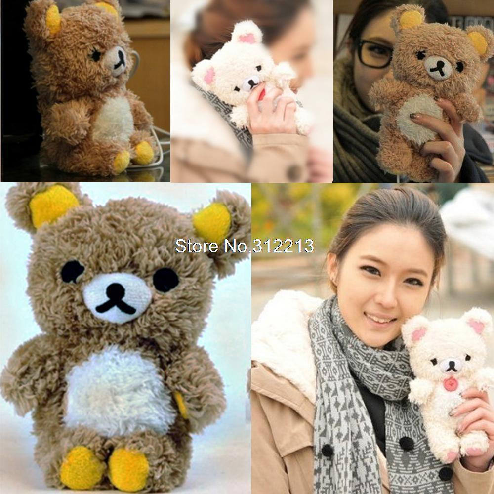 New 3D Fashion Cute Teddy Bear Cool Plush Toy Doll Cover Case For Apple iphone 4 4g 4s 5 5s 5c Mobile Phone(China (Mainland))