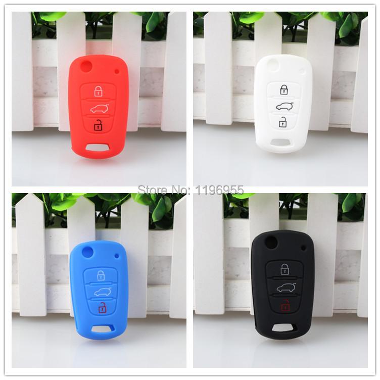 Silicone Key Cover Car Keychain For Remote Control for HYUNDAI i30 KIA Soul RIO K2 K5 Sportage R forte CERATO accessories(China (Mainland))